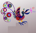 Bird singer decorative singing vector illustration Royalty Free Stock Photos