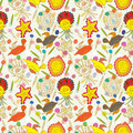 Bird Stone Seamless Pattern_eps Stock Photo