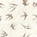 Bird swallow set seamless vintage vector illustration poses isolated on white Royalty Free Stock Image
