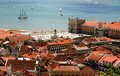 Bird view of central Lisbon Stock Photos