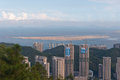 Bird view cityscape of zhuhai china shot from banzhangshan banzhang mountain the highest mountain in urban at Stock Image