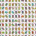 Bird wait tile seamless pattern illustration dotted background colorful backdrop Stock Photo