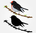 Bird Wall Decal Stock Photo