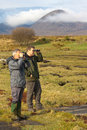 Bird watchers on Skye Royalty Free Stock Images