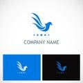 Bird wing company logo