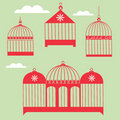 Birdcage Set Royalty Free Stock Photo