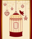 Birdcages and birds Royalty Free Stock Images