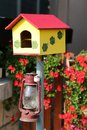 Birdhouse close view at the Royalty Free Stock Photography
