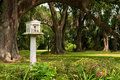 Birdhouse on Grounds of a Southern Plantation Stock Image
