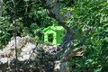 Birdhouse on an island inside a lake Royalty Free Stock Photo