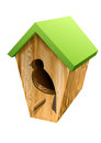 Birdhouse isolated on white background eps Stock Images