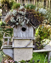 Birdhouse rustic old in garden Royalty Free Stock Photography