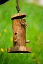 Birdhouse on tree in spring Royalty Free Stock Images