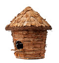 Birdhouse wooden on a white background Royalty Free Stock Images