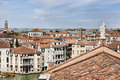 Birds eye view on Grand Canal in Venice Stock Photo