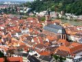 Birds Eye view of Heidelberg Stock Image