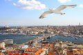 Birds eye view of Istanbul Royalty Free Stock Photos