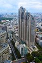 Birds eye view over Tokyo, Japan Royalty Free Stock Photo
