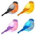 Birds forest bullfinch vector illustration Stock Images