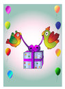 Birds with gift