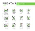 Birds - line design icons set Royalty Free Stock Photo