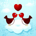 Birds in love Royalty Free Stock Photography