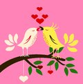 Birds with love Royalty Free Stock Photography