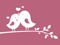 Birds in love vector illustration Royalty Free Stock Photo