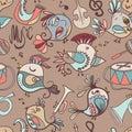 Birds, Musical Instruments, No...