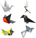 Birds of origami Royalty Free Stock Photo