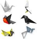 Birds of origami Royalty Free Stock Photo