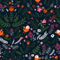 Birds pattern nature with seamless can be used for wallpaper fills web page background surface textures floral Stock Photos