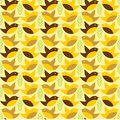 Birds seamless pattern vector cartoon Stock Images