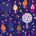 Birds in the trees nature forest night pattern