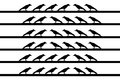 Birds on wire illustration of Royalty Free Stock Images