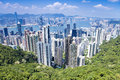 Birdseye view of Hong Kong Island Peak Royalty Free Stock Photo