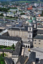 Birdview of Salzburg, Austria Royalty Free Stock Images