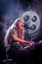 Birdy (singer) with piano Royalty Free Stock Photo