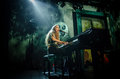 Birdy singer playing the piano jasmine van den bogaerde a k a during a concert Stock Photography