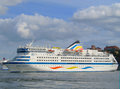 Birka Princess Cruise Ship in Stockholm Stock Image