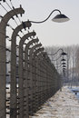 Birkenau Nazi Concentration Camp - Poland Stock Image