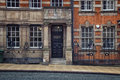 Birmingham city center facade of an old building made in victorian red brick and terracotta architectural style in the of uk Royalty Free Stock Image