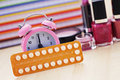 Birth control pill Stock Images