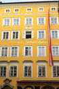 Birth house of Wolfgang Amadeus Mozart, Salzburg Royalty Free Stock Photo