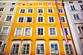 Birth house of Wolfgang Amadeus Mozart in Salzburg, Austria. Ins Royalty Free Stock Photo