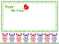 Birthday background with bears