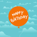 Birthday balloon in the sky vector illustration of Stock Photography
