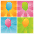 Birthday balloons backgrounds Royalty Free Stock Photo
