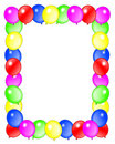 Birthday Balloons Border Frame Stock Photo