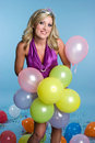 Birthday Balloons Girl Royalty Free Stock Image